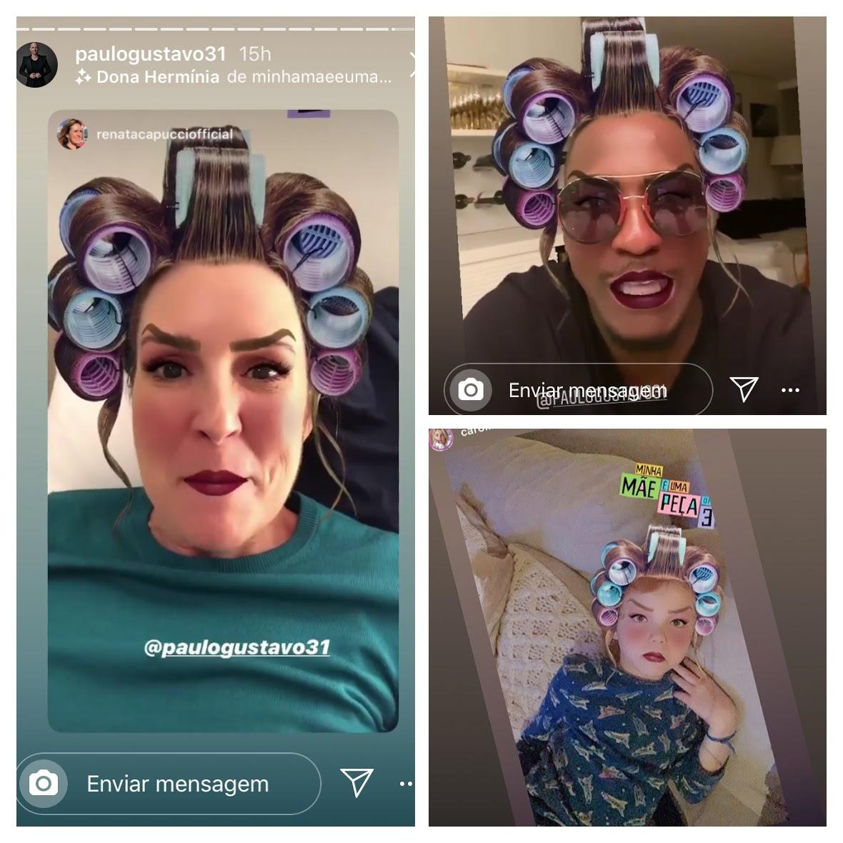 Dona Hermínia vira filtro do Instagram